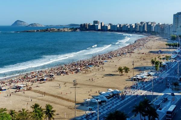 Survol plage Copacabana