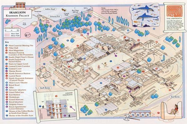 Carte site Knossos