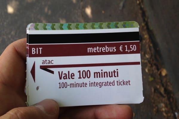 ticket metro Rome