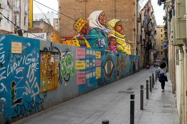 quartier el raval barcelone
