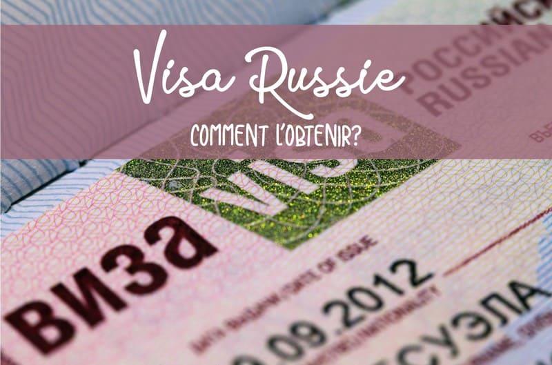 Demande visa pour la Russie