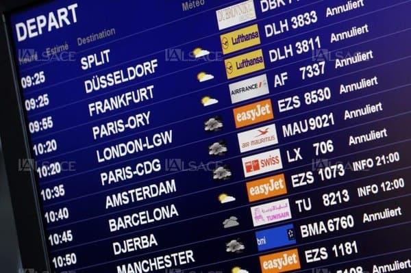 affichage vol annulé ou retardé