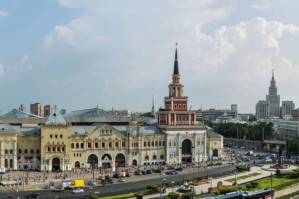 Gare à Moscou pour le train