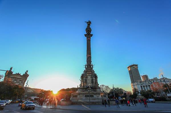 Statue de Christophe Colomb à Barcelone