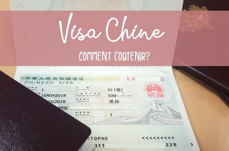 Comment obtenir son visa chine