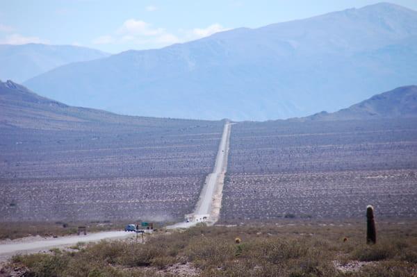 Longue ligne droite en Argentine