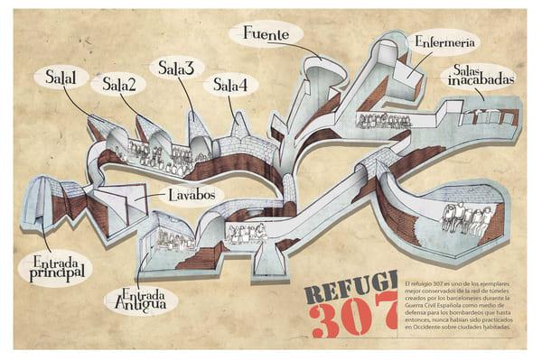 Visite refuge 307 barcelone