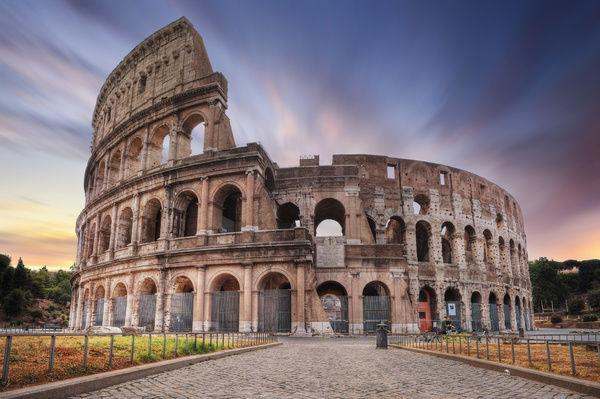 coucher de soleil colisée Rome