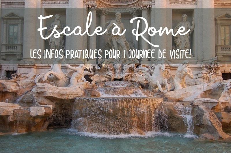 Une journée en escale à rome