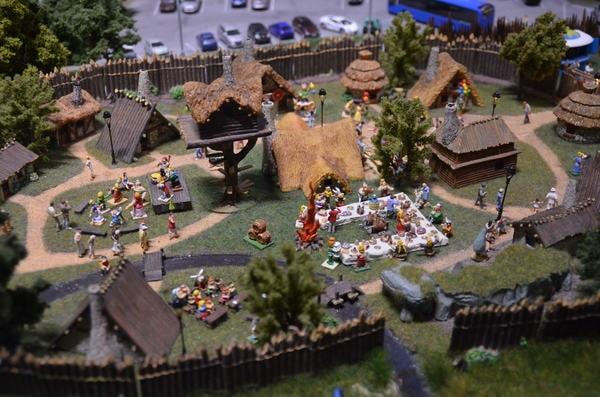 Village Obélix miniature à Lyon