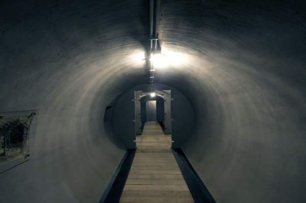 Visite des bunkers de Mussolini