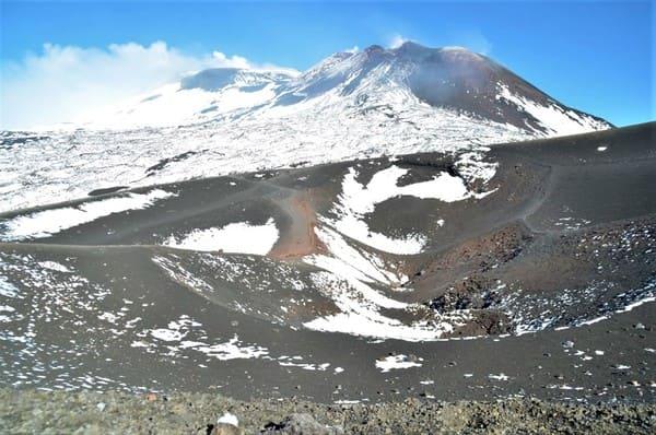 Sommet Etna enneigé
