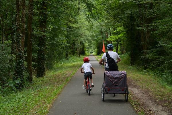 Vélo sur la voie verte Dordogne