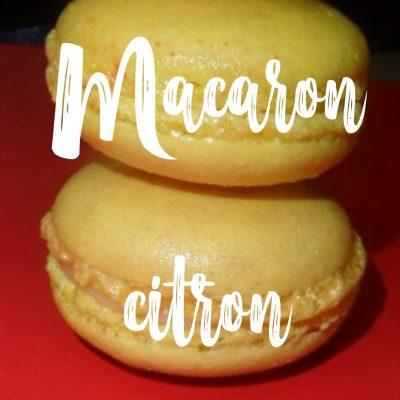Recette de macaron au citron