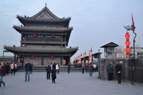 remparts de Xi'an au coucher du soleil