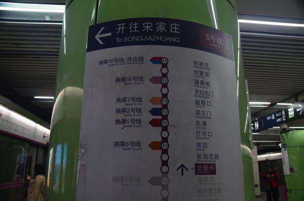 Affichage métro à Beijing