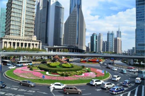 Circulation des voitures Shanghai