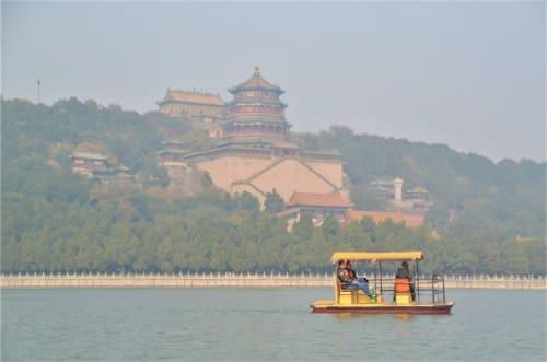 palais d'été de Beijing vue du lac