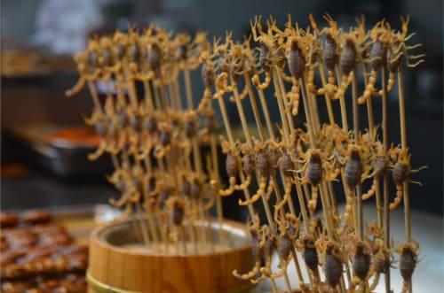 Scorpions à manger en Chine