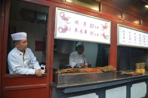Manger dans la rue en Chine