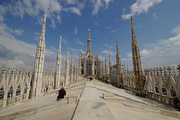 Toits cathédrale de Milan Duomo