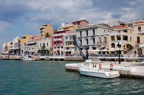 Village d'Elounda en Crète