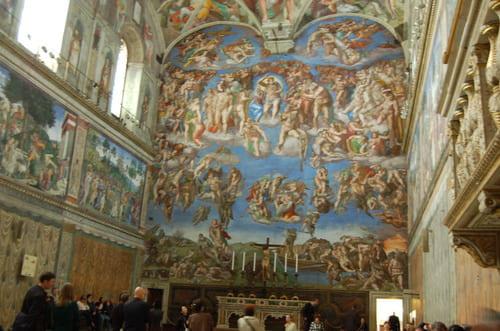 peinture plafond chapelle sixtine