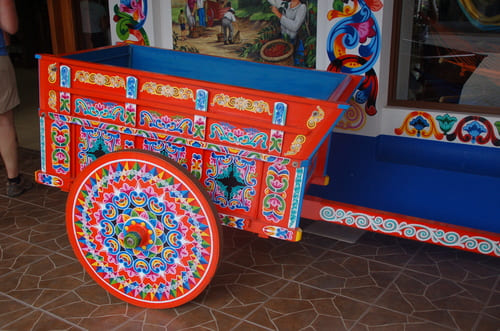 Charettes au Costa Rica
