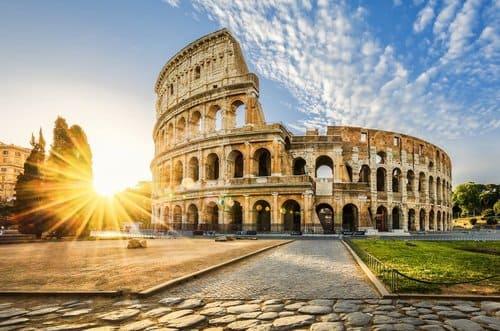 colisée Rome coucher soleil