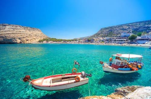 Mer turquoise en Crète