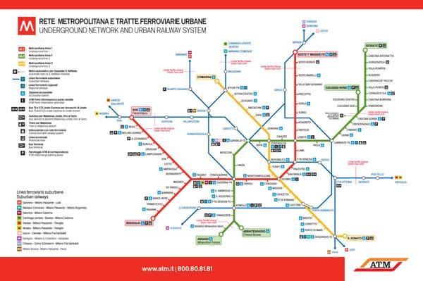 Stations métro Milano