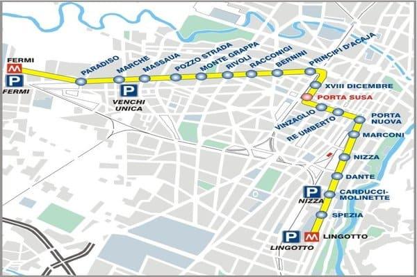 métro ligne Turin