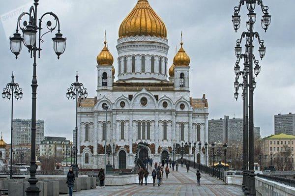 Cathédrale blanche à Moscou