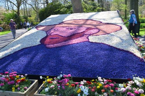 Van Gogh portrait en fleurs