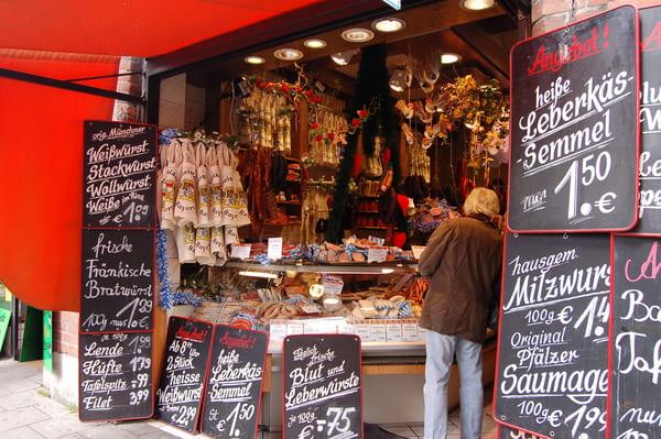 Marché typique bavarois