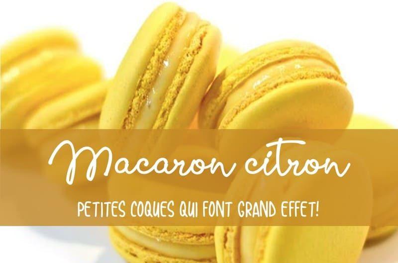 Recette macaron au citron
