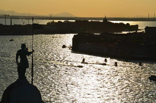 Superbe vue Venise coucher soleil