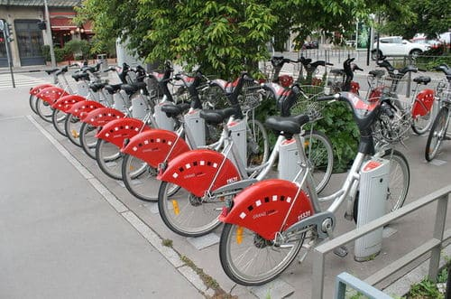Vélo'v station lyon