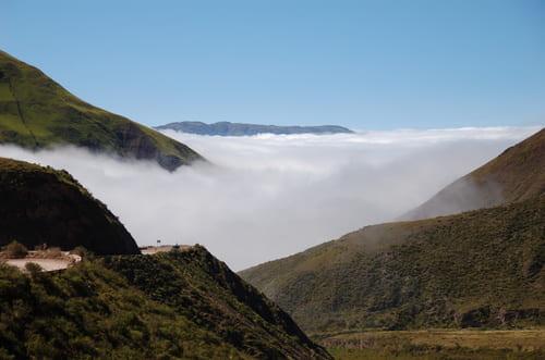 Mer de nuages paysages argentine