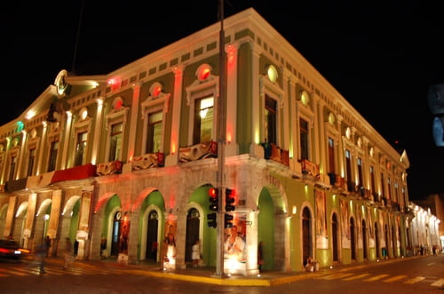 Merida de nuit Mexique