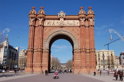 Visite de l'arc de triomphe de Barcelone