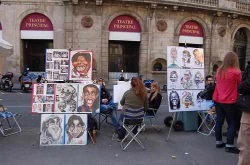 Artistes sur las Ramblas