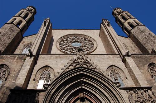 Eglise Gothique à Barcelone