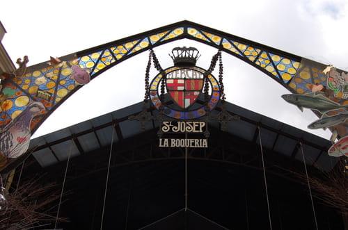 Entrée du marché Boqueria