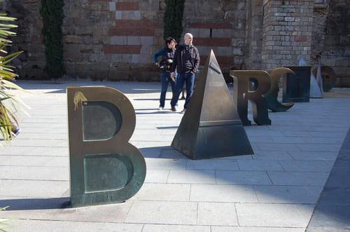 Lettres Barcelone quartier El born