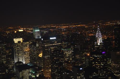 Vue de nuit à New York