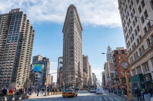immeuble tout fin à New York