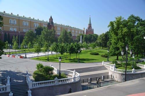 Moscou jardin d'Alexandrovski