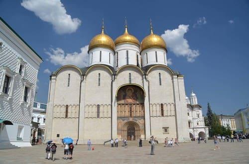Cathédrale toit doré dans le Kremlin
