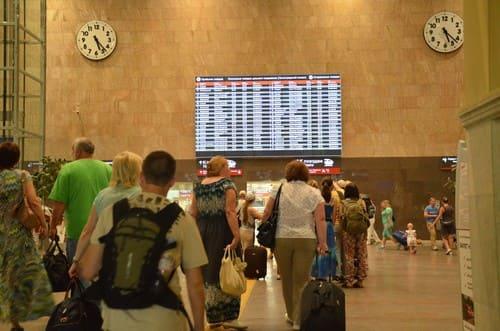 train pour Saint Petersbourg depuis moscou